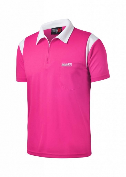 ONE80 - Poloshirts - Pink/Weiß
