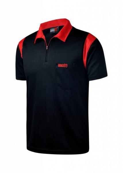 ONE80 - Poloshirts - Schwarz/Rot