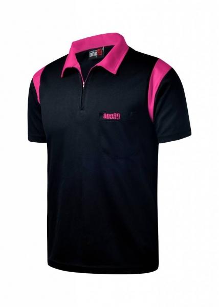 ONE80 - Poloshirts - Schwarz/Pink